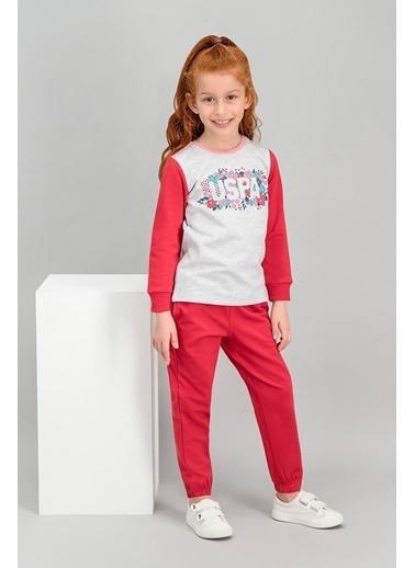 U.S. Polo Assn. U.S. Polo Assn Lisanslı Karmelanj Kız Çocuk Eşofman Takımı Gri